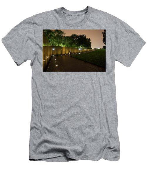 Vietnam Memorial By Night Men's T-Shirt (Athletic Fit)