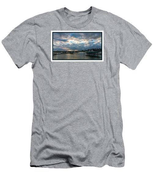 View From Marina Bay Men's T-Shirt (Slim Fit) by Dorothy Cunningham