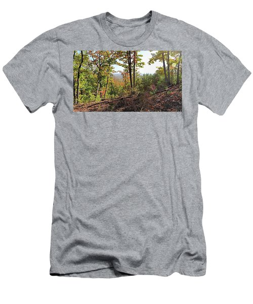 View From The Top Of Brown's Mountain Trail, Kings Mountain Stat Men's T-Shirt (Athletic Fit)