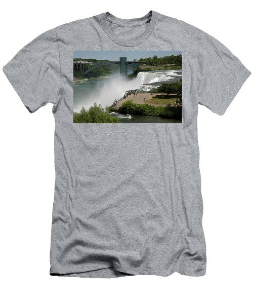 Men's T-Shirt (Athletic Fit) featuring the photograph View Of American Niagara Falls by Jeff Folger