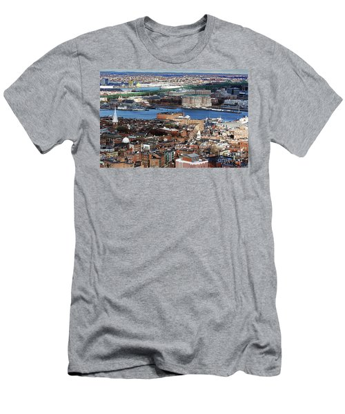 View Of Charlestown Navy Yard Men's T-Shirt (Athletic Fit)