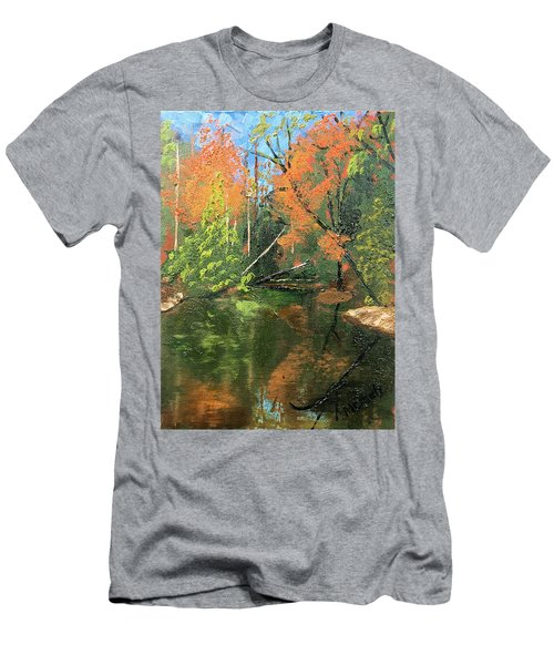 View Of Creek From Lake Huron Men's T-Shirt (Athletic Fit)