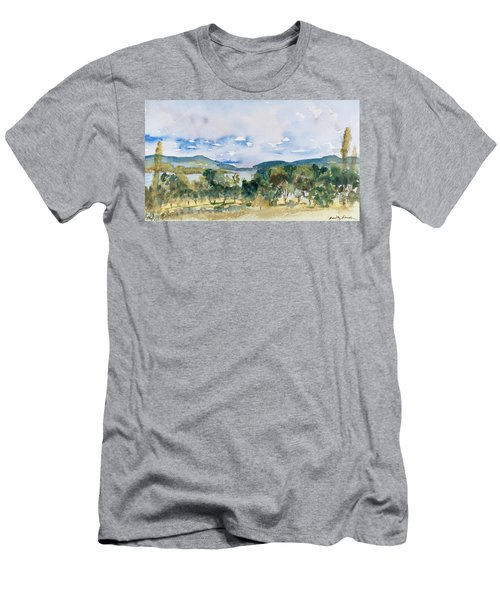 View Of D'entrecasteaux Channel From Birchs Bay, Tasmania Men's T-Shirt (Athletic Fit)