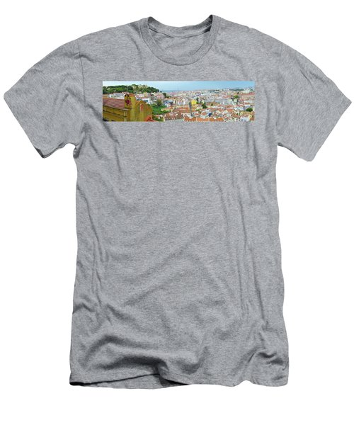 Men's T-Shirt (Slim Fit) featuring the photograph View Of Lisbon by Patricia Schaefer