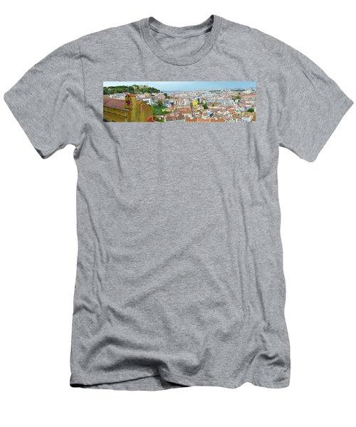 View Of Lisbon Men's T-Shirt (Slim Fit) by Patricia Schaefer