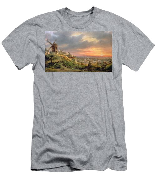 View Of The Butte Montmartre Men's T-Shirt (Athletic Fit)