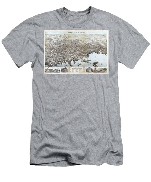 View Of The City Of New Bedford, Mass. Men's T-Shirt (Athletic Fit)