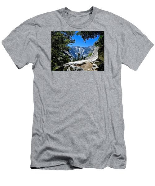 View Of The Sphinx Men's T-Shirt (Slim Fit) by Amelia Racca