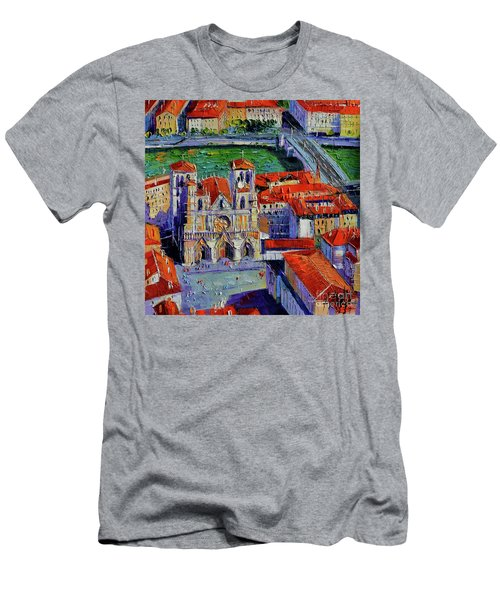 View Over Cathedral Saint Jean Lyon Men's T-Shirt (Athletic Fit)