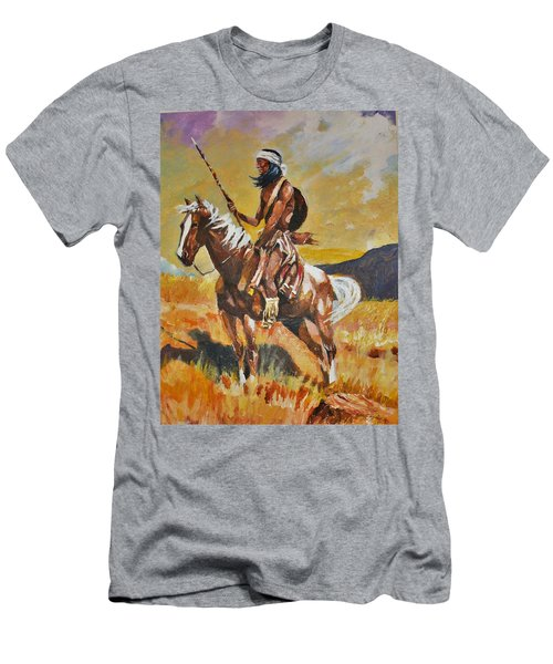 Vigilante Apache Men's T-Shirt (Slim Fit) by Al Brown