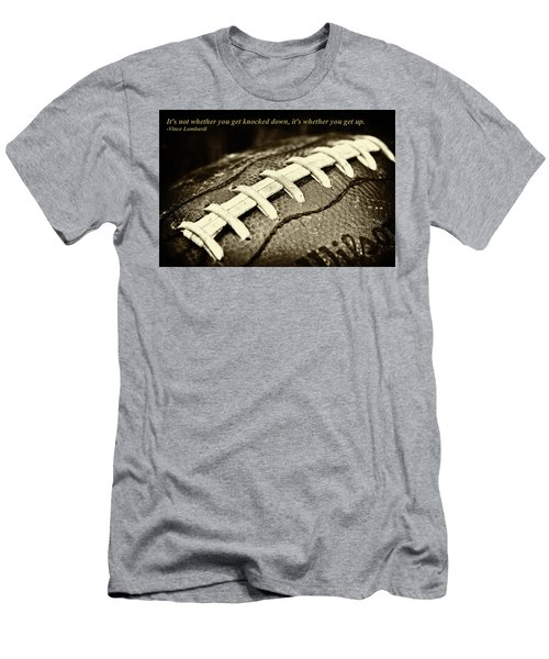 Vince Lombardi Quote Men's T-Shirt (Slim Fit) by David Patterson