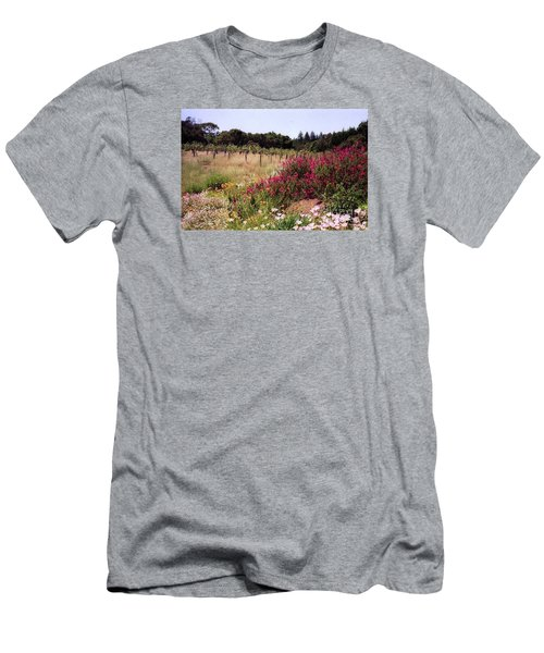 vines and flower SF peninsula Men's T-Shirt (Slim Fit) by Ted Pollard