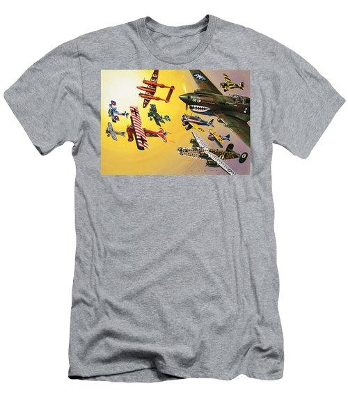 Vintage Aircraft Montage Men's T-Shirt (Athletic Fit)