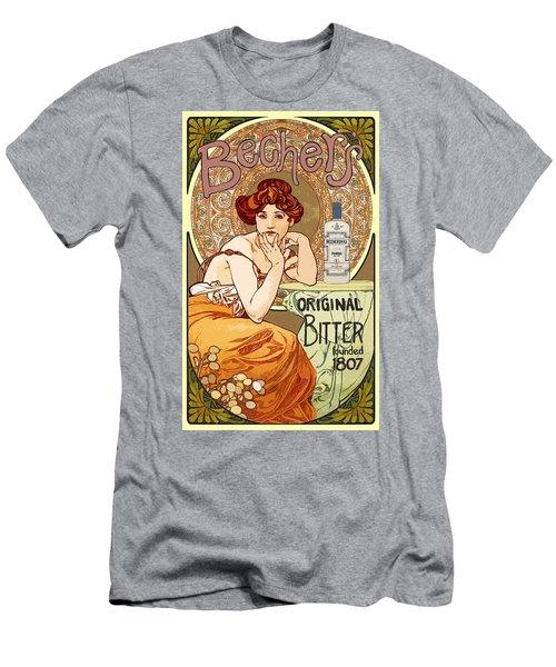 Vintage Art Nouveau Bechers Original Bitter 1807 Men's T-Shirt (Athletic Fit)