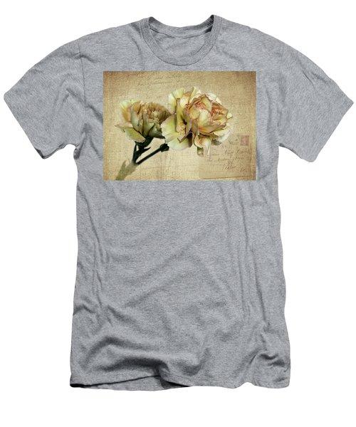 Vintage Carnations Men's T-Shirt (Slim Fit) by Judy Vincent