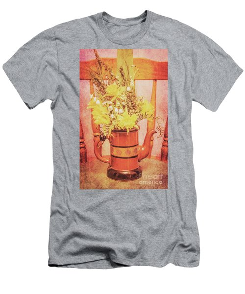 Vintage Fine Art Still Life With Daffodils Men's T-Shirt (Athletic Fit)