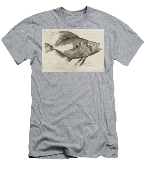 Vintage Fish Print Men's T-Shirt (Athletic Fit)