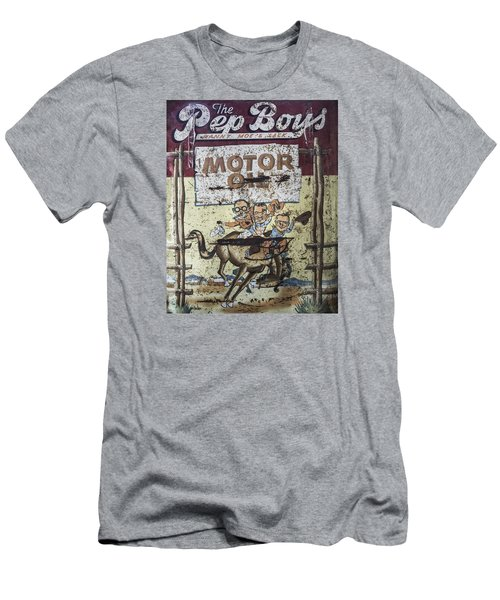 Vintage Pep Boys Sign Men's T-Shirt (Slim Fit) by Christina Lihani