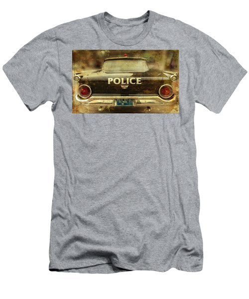 Men's T-Shirt (Athletic Fit) featuring the photograph Vintage Police Car - Baltimore, Maryland by Marianna Mills