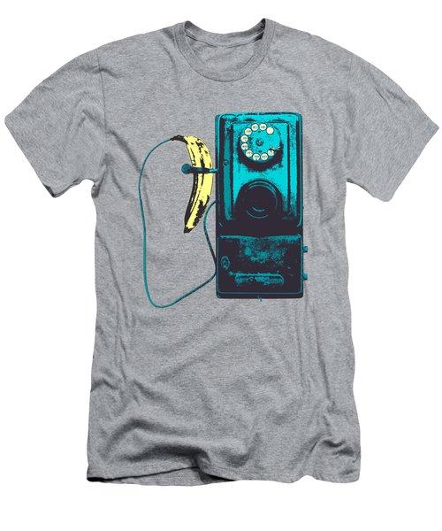 Vintage Public Telephone Men's T-Shirt (Slim Fit)