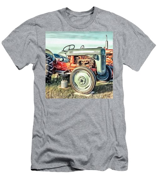 Vintage Tractors Pei Square Men's T-Shirt (Athletic Fit)