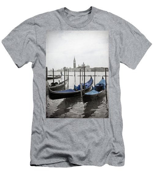 Vintage Venice In Black, White, And Blue Men's T-Shirt (Athletic Fit)