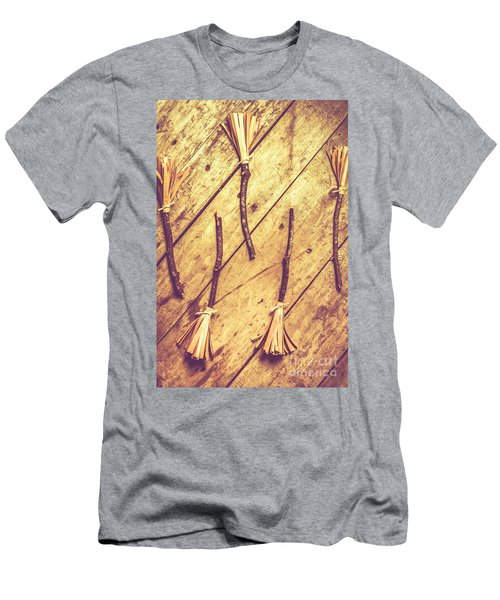 Vintage Witches Broomsticks Men's T-Shirt (Athletic Fit)