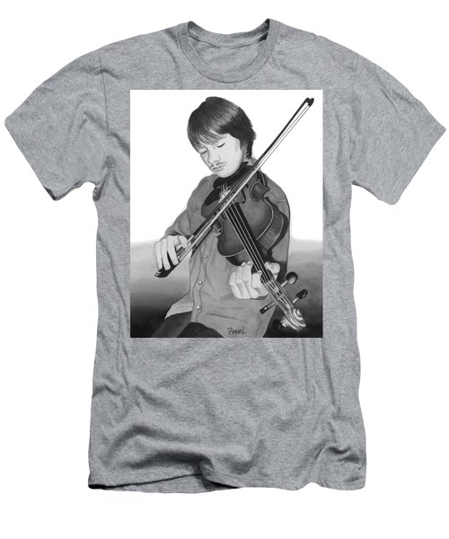 Men's T-Shirt (Slim Fit) featuring the painting Viola Master by Ferrel Cordle