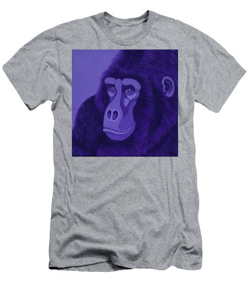 Violet Gorilla Men's T-Shirt (Athletic Fit)