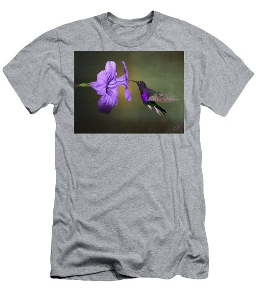 Violet Sabrewing Hummingbird Men's T-Shirt (Athletic Fit)
