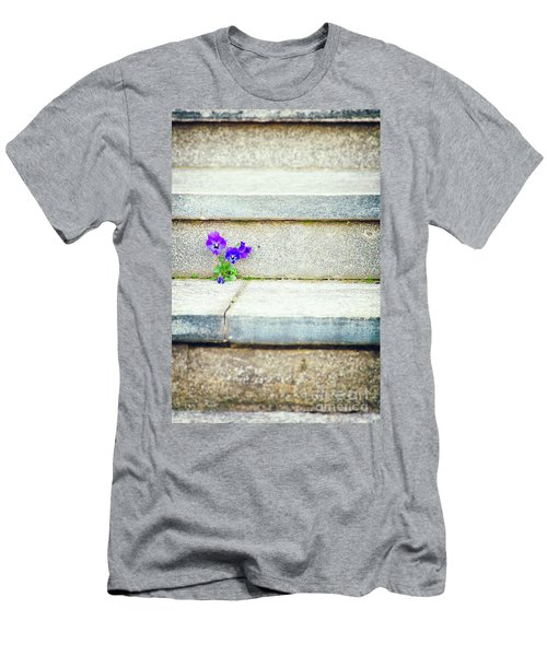 Men's T-Shirt (Athletic Fit) featuring the photograph Violets    by Silvia Ganora