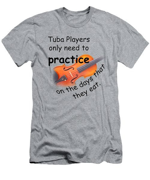 Violins Practice When They Eat Men's T-Shirt (Athletic Fit)