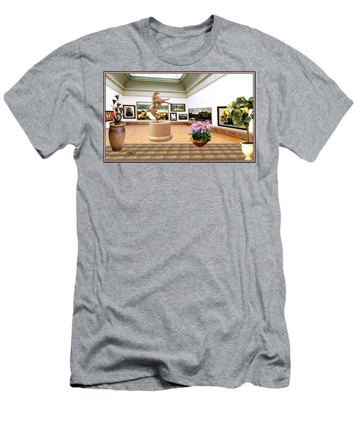 Virtual Exhibition - A Modern Horse Statue Men's T-Shirt (Slim Fit) by Pemaro