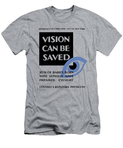 Vision Can Be Saved - Wpa Men's T-Shirt (Athletic Fit)