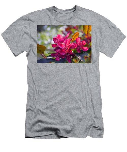 Vivid Pink Flowers Men's T-Shirt (Slim Fit) by Tina M Wenger