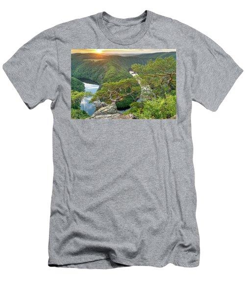 Vltava River Men's T-Shirt (Athletic Fit)