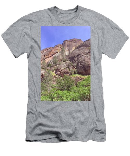 Men's T-Shirt (Slim Fit) featuring the photograph Volcanic Colors by Art Block Collections