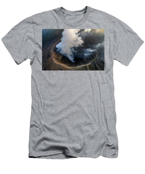 Volcanic Crater From Above Men's T-Shirt (Athletic Fit)