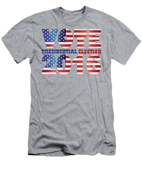Vote 2016 Usa Presidential Election Illustration Men's T-Shirt (Slim Fit) by Jit Lim