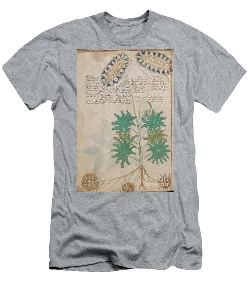 Voynich Flora 04 Men's T-Shirt (Athletic Fit)