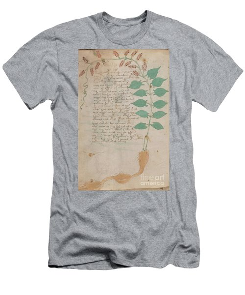 Voynich Flora 07 Men's T-Shirt (Athletic Fit)