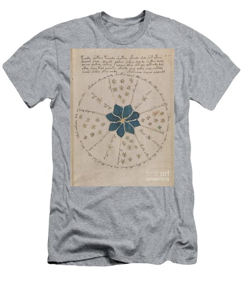 Voynich Manuscript Astro Rosette 2 Men's T-Shirt (Athletic Fit)