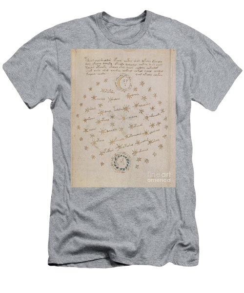Voynich Manuscript Astro Sun And Moon 1 Men's T-Shirt (Athletic Fit)