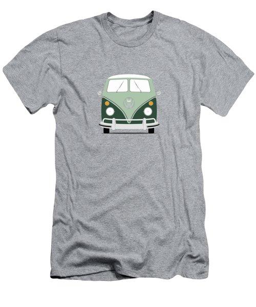 Vw Bus Green Men's T-Shirt (Slim Fit) by Mark Rogan