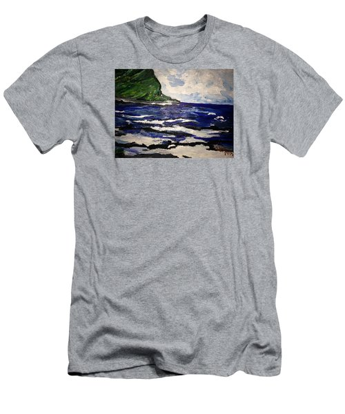 Waipio Valley  Beach Men's T-Shirt (Athletic Fit)