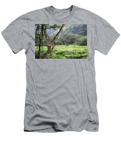 Waipio Valley Road Rules Men's T-Shirt (Athletic Fit)