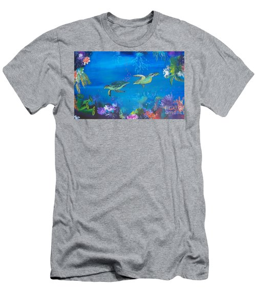 Wait For Me Men's T-Shirt (Slim Fit) by Lyn Olsen