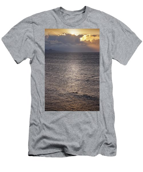 Waiting For The Last Wave Of The Day Men's T-Shirt (Athletic Fit)