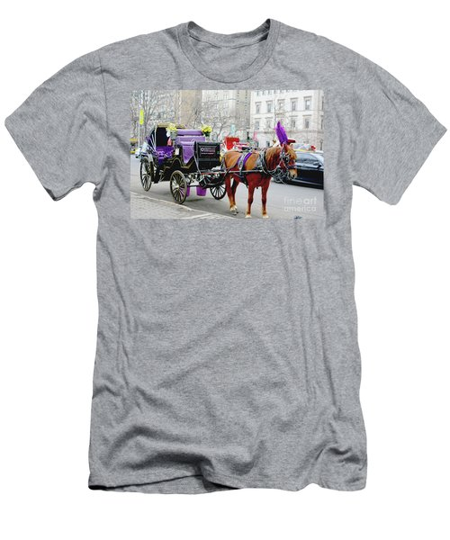 Men's T-Shirt (Slim Fit) featuring the photograph Waiting by Sandy Moulder