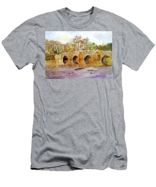 Wales Dipping Bridge Men's T-Shirt (Slim Fit) by Larry Hamilton